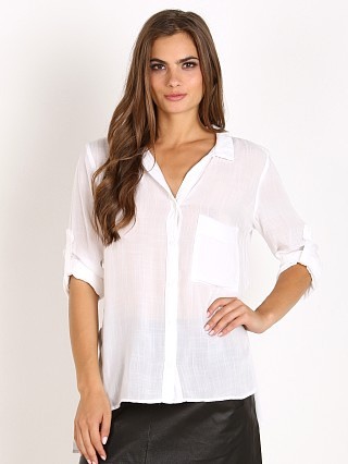 Bella Dahl Side Split Button Down White