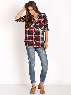 Bella Dahl Two Pocket Button Down Ruby