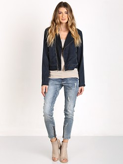 Bella Dahl Lined Moto Jacket Black