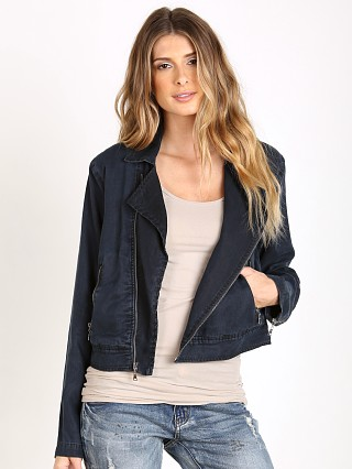 Bella Dahl Lined Moto Jacket Black Indigo