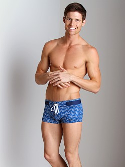 2xist Herringbone Cabo Swim Trunk Estate Blue