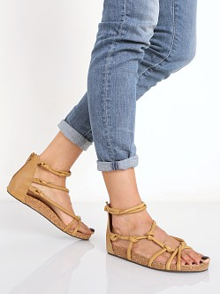 Free People Redlands Footbed Sandal Tan