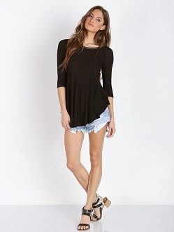 Free People Weekend Layering Tee Black