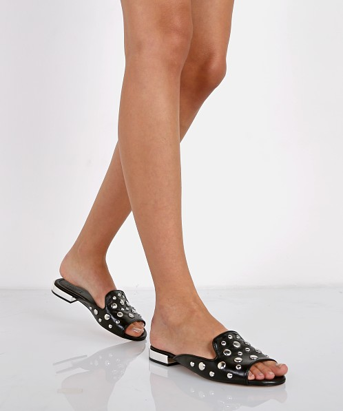 Schutz Saucy Slide Black