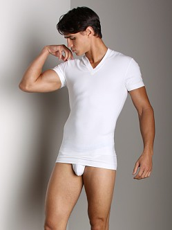 2xist Form Slimming V-Neck Shirt White