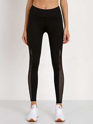 Lanston Sport Grayson Mesh Pannel Pocket Legging Black