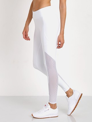 Lanston Sport Grayson Mesh Pannel Pocket Legging White