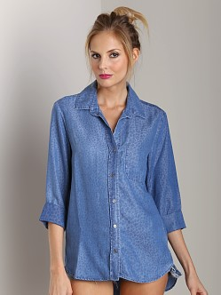 Bella Dahl Shirt Tail Button Down Worn Well