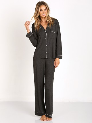 Eberjey Gisele Long Sleeve PJ Set Charcoal Heather