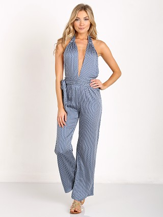 Faithfull the Brand Lola Jumpsuit Saville Print Blue