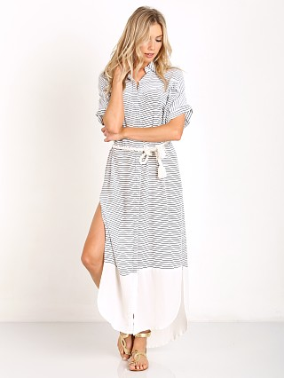 Faithfull the Brand Gigi Shirt Dress Sea Salt Print