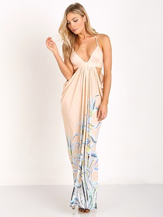 Mara Hoffman Aloe Cut Out Draped Maxi Pastel Pink