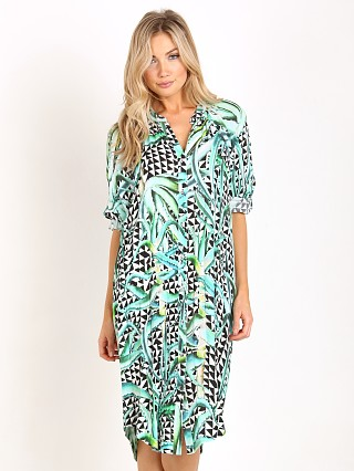 Mara Hoffman Aloe Oversized Shirt Dress Green Aloe
