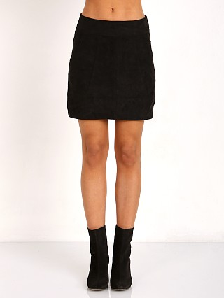 MinkPink Wild West Suede Mini Skirt Black