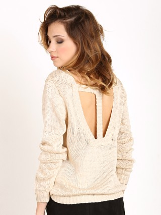 MinkPink Relax Me Cutout Knit Natural