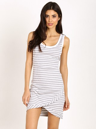 MinkPink Strike Me Mini Dress Grey/White Stripe