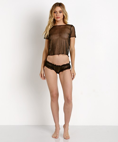 7d12837c600 SKIVVIES by For Love   Lemons Sparkle Mesh Panty Black Glitter SKSP1080M -  Free Shipping at Largo Drive
