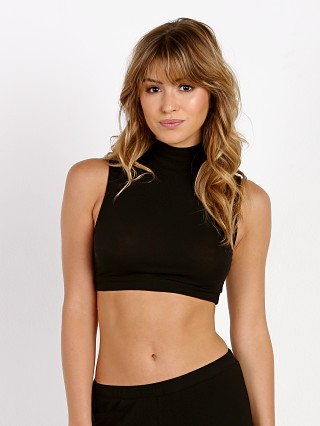 Only Hearts Mock Neck Crop Black