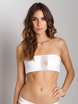 Mikoh Sunset String Triple Loop Bandeau Bikini Top Foam