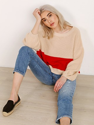 Knot Sisters Stripe Sweater Natural/Red