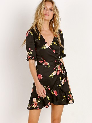 Capulet Nadine Wrap Dress Black Floral