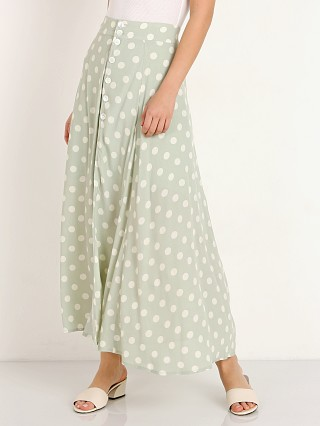 Model in polka dot Capulet Madie Midi Skirt