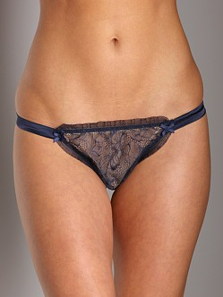 Mimi Holliday Etoile de Nuit Thong Blue Silk