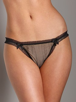 Mimi Holliday Belle de Nuit Thong Black