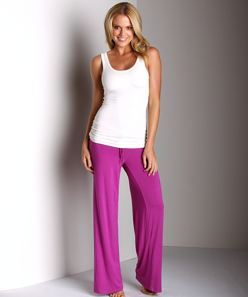 Wendy Glez Signature Lounge Drawstring Pant Berry