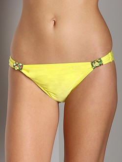 Splendid Blossom Retro Bikini Bottom Yellow