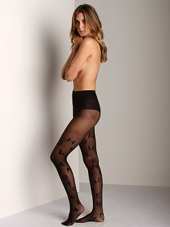 House of Holland For Pretty Polly Alphabet Tights Black