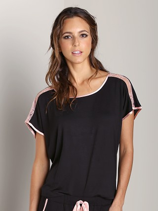 Complete the look: Fleur't All of Me Silk Trimmed Top Black/Blush
