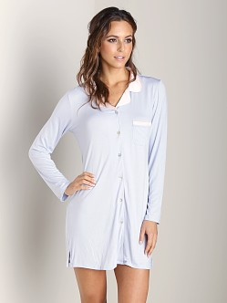 Fleur't Forever Yours Silk Collar Nightshirt Grey Dawn/Pink