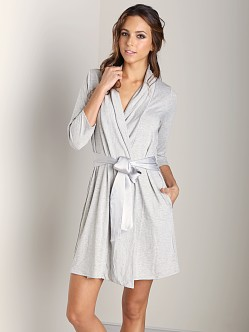 Fleur't Take Me Away 3/4 Sleeve Robe Heather Grey