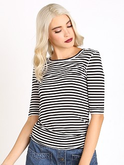Free People Striped Leader of the Pack Tee Ivory