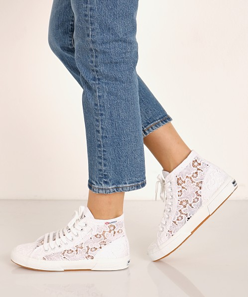 Superga 2795 Macrame High Top Sneaker White