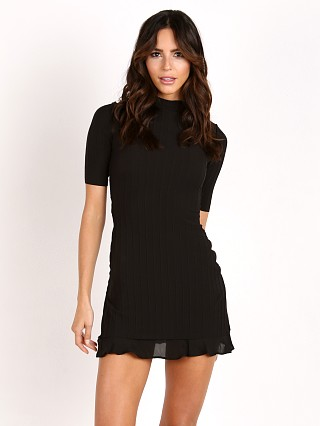 Stone Cold Fox Behati Dress Black Rib Knit