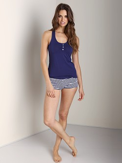 Splendid Intimates Color Splash Shirted Front Tank Navy
