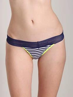 Splendid Intimates Color Splash Thong Navy Stripe