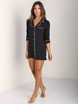 Fleur't Cozy Nights Sleepshirt Black/Pink
