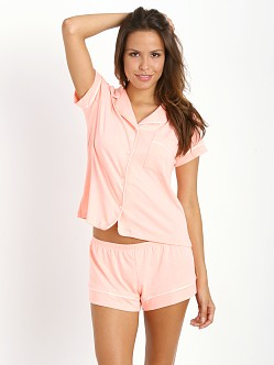 Eberjey Gisele Short PJ Set Orange Sherbet