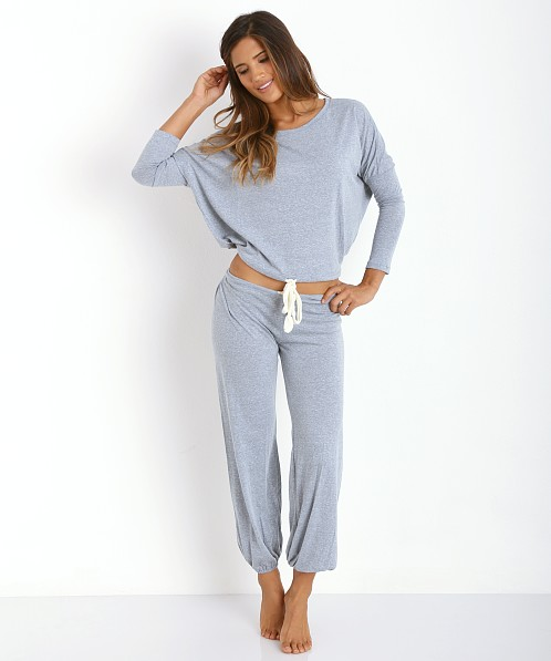Eberjey Heather Cropped Pant Blue Shadow