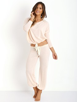 Eberjey Heather Cropped Pant Shell