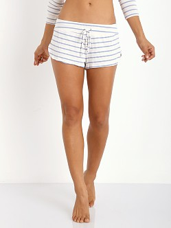 Eberjey Lounge Stripe Short Blue Shadow