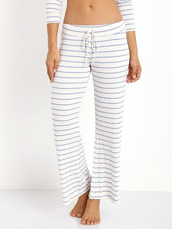 Eberjey Lounge Stripe Wide Leg Pant Blue Shadow