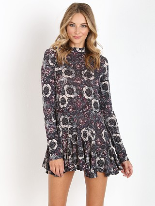 Free People Jersey Annabelle Printed Tunic Plum Combo