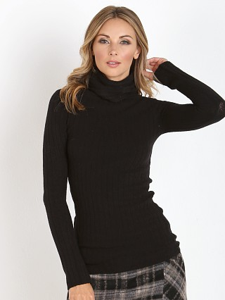 Free People Skinny Mock Neck Black