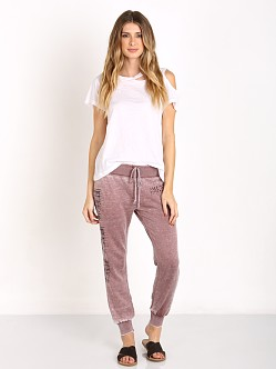 Amuse Society Cave Stamp Fleece Pant Mocha