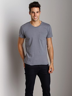 Nudie Jeans Roundneck Pocket Tee Blue