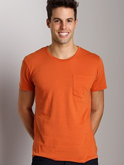 Nudie Jeans Roundneck Pocket Tee Orange
